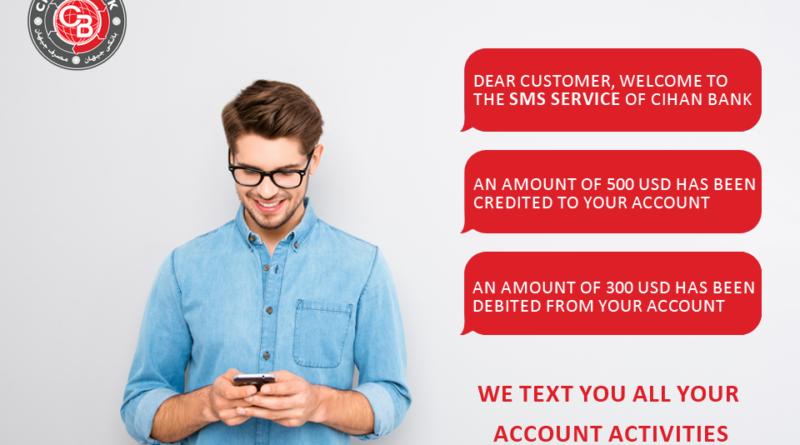 SMS from Cihan Bank!